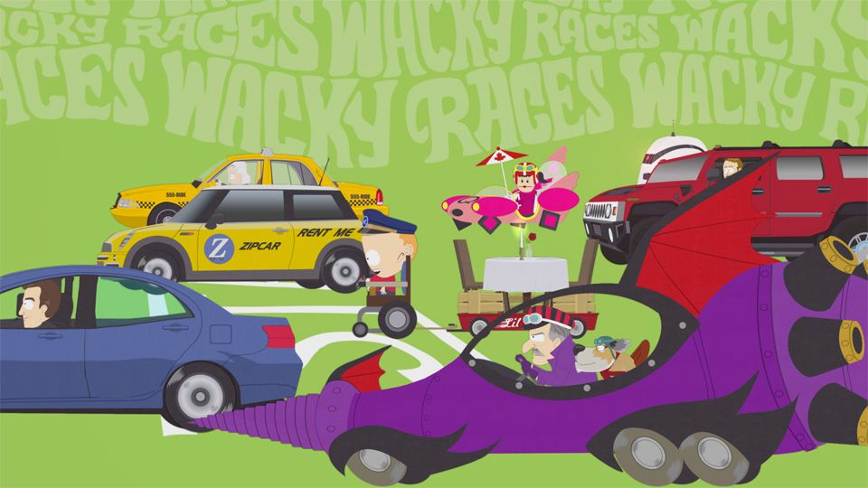 The Wacky Races Begin  Video Clip  South Park Studios